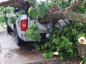 This is what our 10 min afternoon  storm caused at my house