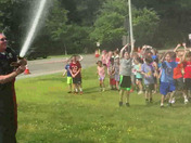 Steward School in Topsfield keeping cool with the Topsfield Fire Department.