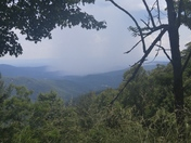 Overlooking Wilkes County at rain from Laurel Springs