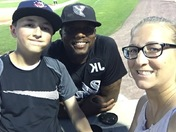 Selfie during the 7th inning with York Revolution pitcher Rob Carson & Season Ticket Holders Kim & Skylar