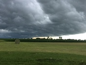 Storm clouds over Elkhart iowa