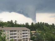 Funnel cloud in Newmarket NH around 6pm on 6/18/18!!!!