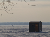 Ice Fishing Hut on the Outaouais