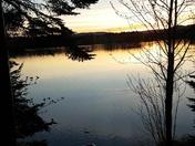 Coucher de soleil sur le lac !