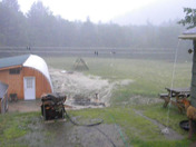 Heavy rain with lightning and thunder in Eaton, NH