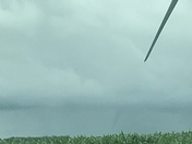 Possible funnel clouds