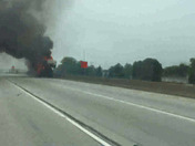 Fire on I94 this afternoon near Sturtevant