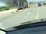 Semi truck on fired I-35 south near se 15th exit