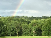 Rainbow after this evening's rain