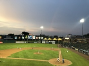 Rainbow at Revs game