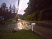 Flash flooding on sebolt road South Park township