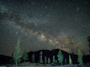 Milkyway over Lassen Volcanic National Park