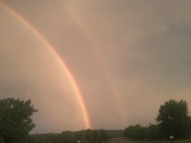 Double rainbow seen in Hodgen Ok this afternoon.