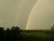 Double Rainbow in Poteau Oklahoma 6/20/18