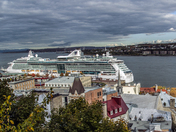 Cruise Ship Docked in Old Quebec City