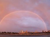 Rainbow over Milwaukee