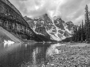Moraine Lake in B&W