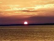 Beautiful sunrise on lake Jesup