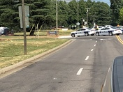 Street in front of parkland high school off of peters creek parkway closed and tapes of by WSPD