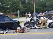 Accident on Sanford ave and 26th street, road close