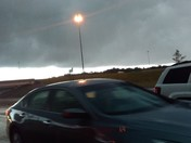 Storm cloud over Clinton and 220