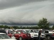 Watching the storm move in at the Brandon Amphitheater.