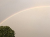 Beautiful double rainbow over Ware Place!
