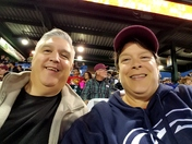 Brian and Kim at the Lancaster Barnstormer Akron Night.