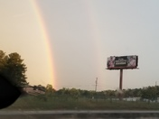 1st set of double rainbows tonight in Anderson County, I-85 between exit 39 & exit 35.