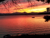Sunset over Ossipee Lake in Ossipee