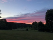 Sunset at the Rutland Country Club 6/22/18