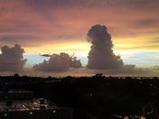 Sunset from Downtown Orlando
