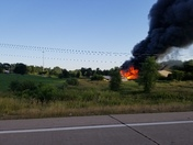 Fire on highway 370 and 60th farm.