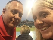Chris and Lori Riddle at the York Revolution game June 23