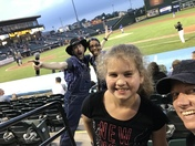 Enjoying Ag + Farm night at the York Revolution-Kendra and Madelynn