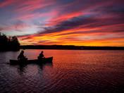 Sunset over Cobbosseecontee Lake