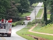 Trees and power lines down on Foster street in Cowpens, sc