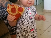 Lola Sophia loves pizza!