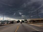 Storm rolls over Greenville