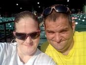 andy and steven enjoying last day of the home stand of the Lancaster Barnstormers