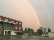 Rainbow from state police barracks in greensburg.