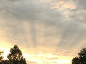 Sunset from my deck,  near Otter Creek Park this evening.