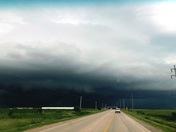 Storm rolling northeast of Spencer Iowa.