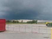 Dark skies. Des Moines iowa off army post