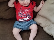 Ms. Madeline Foster is enjoying her first Red Sox season!