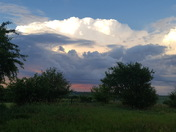 View from Madison County towards Des  Moines.