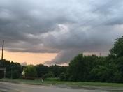 Sun hitting clouds