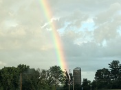 Karen Kelley enjoying bright rainbows in Western Waukee