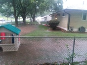This is my side street pleasantview and my neighbors yard looks like a little beach