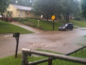 This is my side street pleasantview and my neighbors yard looks like a little beach.